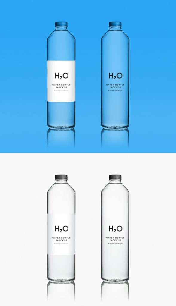New Water Bottle MockUp