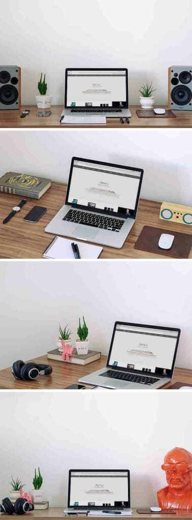 MacBook on a Workspace Mockup
