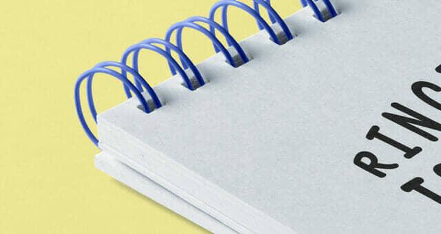 New Ringed Notepad Mockup