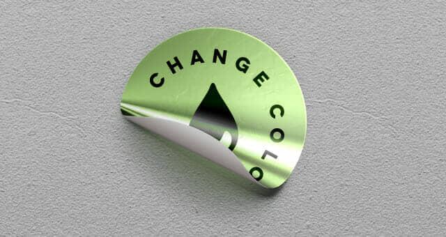 Shiny Foil Sticker Badges
