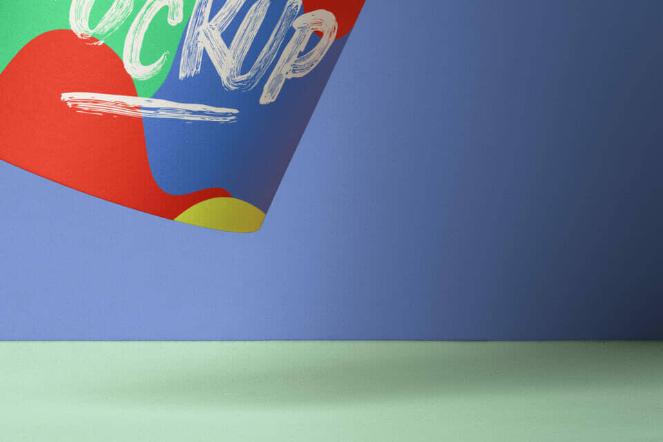 Floating Paper Hot Cup Mockup