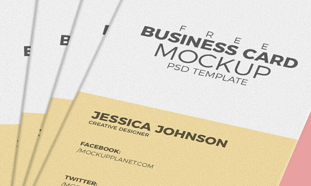 2017 Business Card Mockup