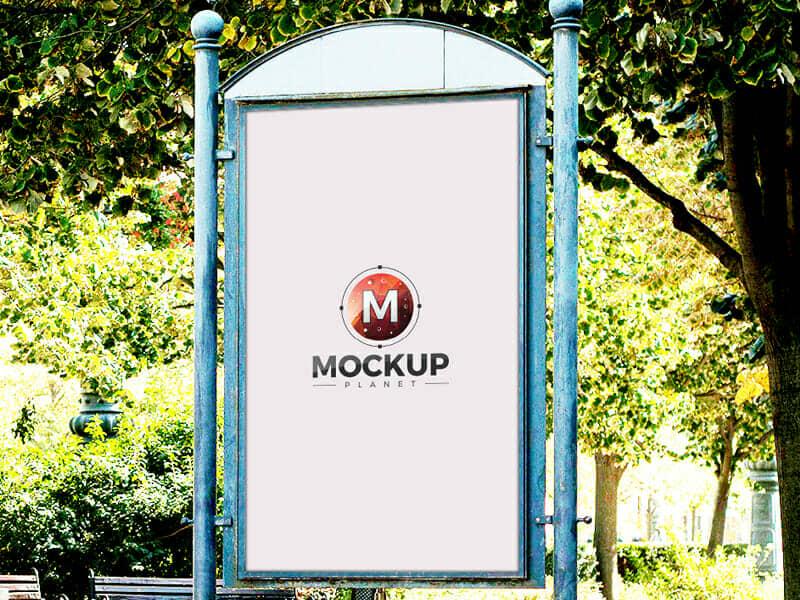 Free Artistic Outdoor Poster Billboard Mockup