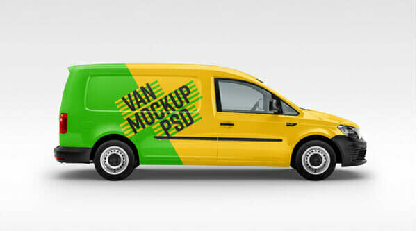 Free Panel Van MockUp With 6 Different Angles