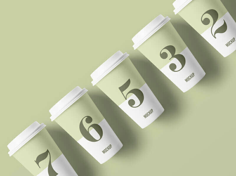 Paper Cup Mockup For Packaging