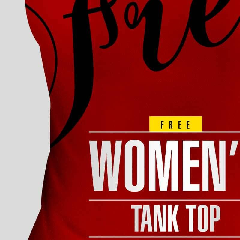 Front View Women's Tank Top Mockup