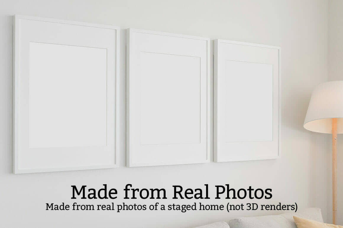 3 Large Photo Poster Set Mockup