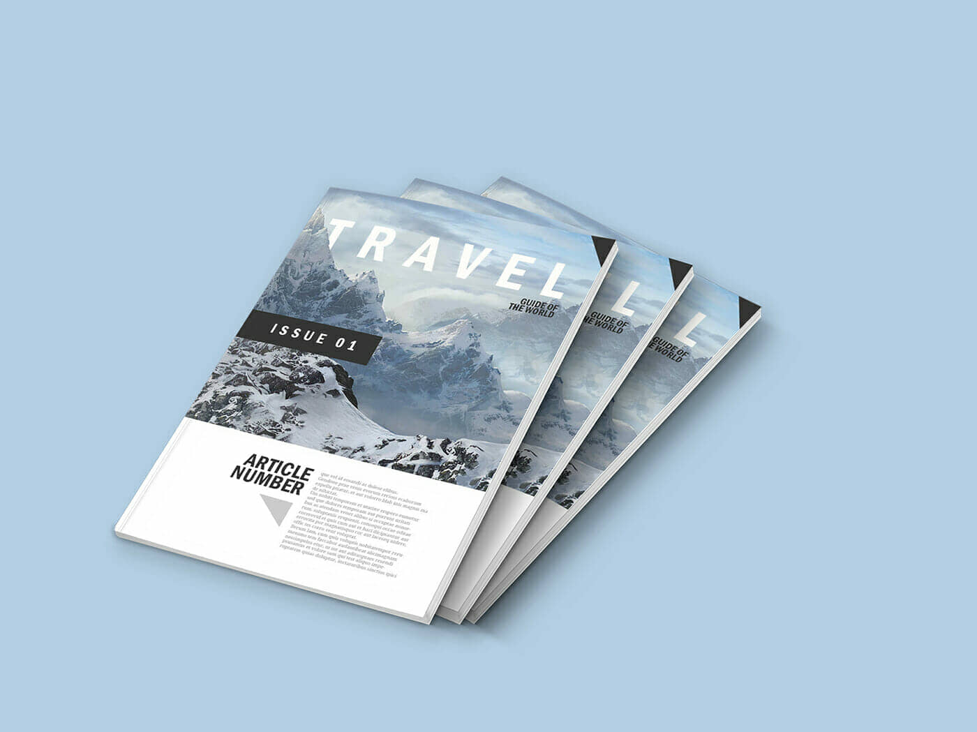 5 Simple Magazine Mockups