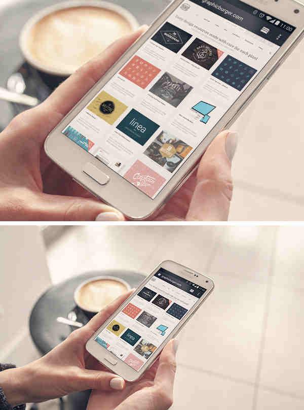 Clean Samsung Galaxy S5 Mockup