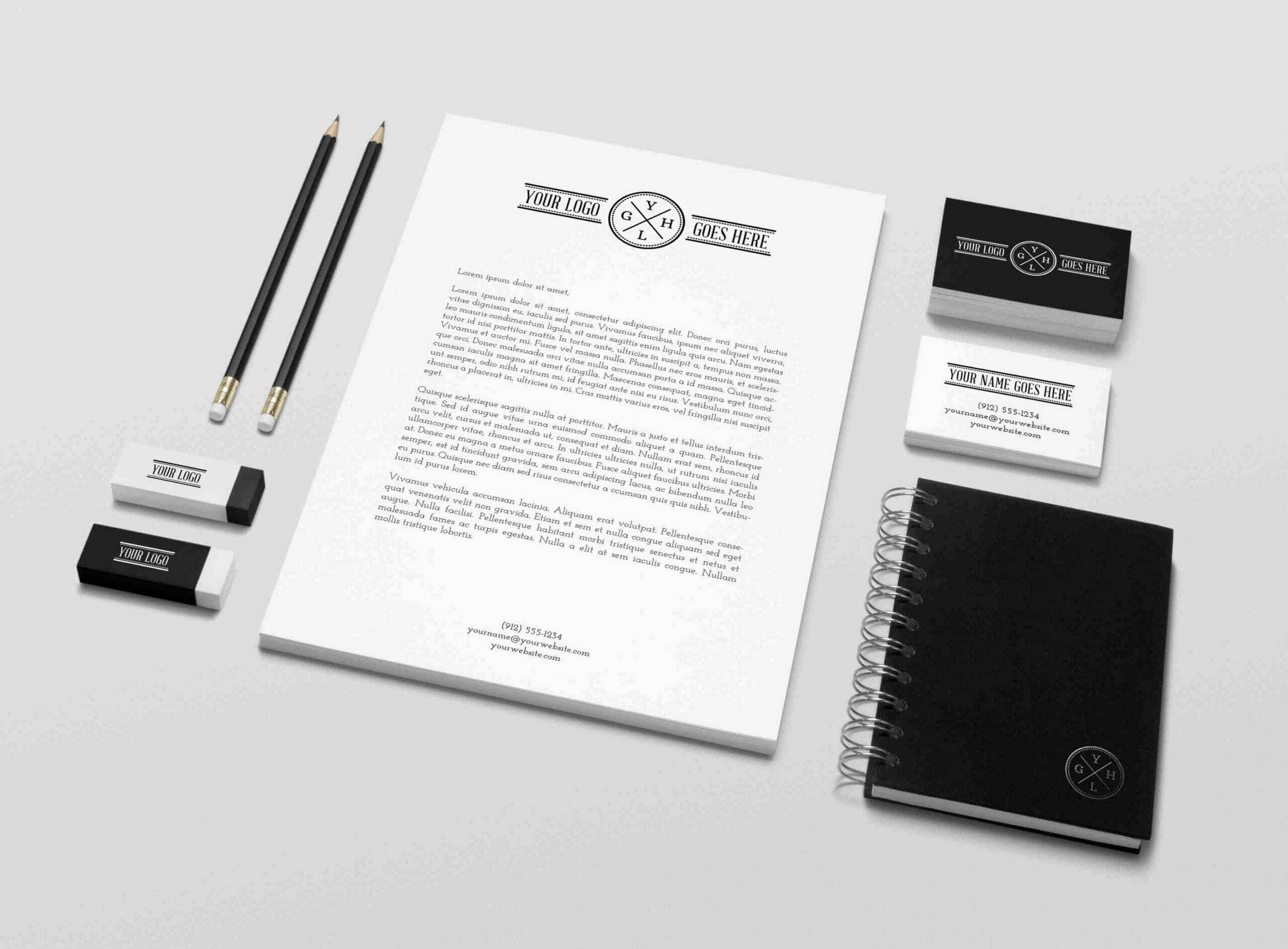 B&W Branding Identity Mockup Vol.5