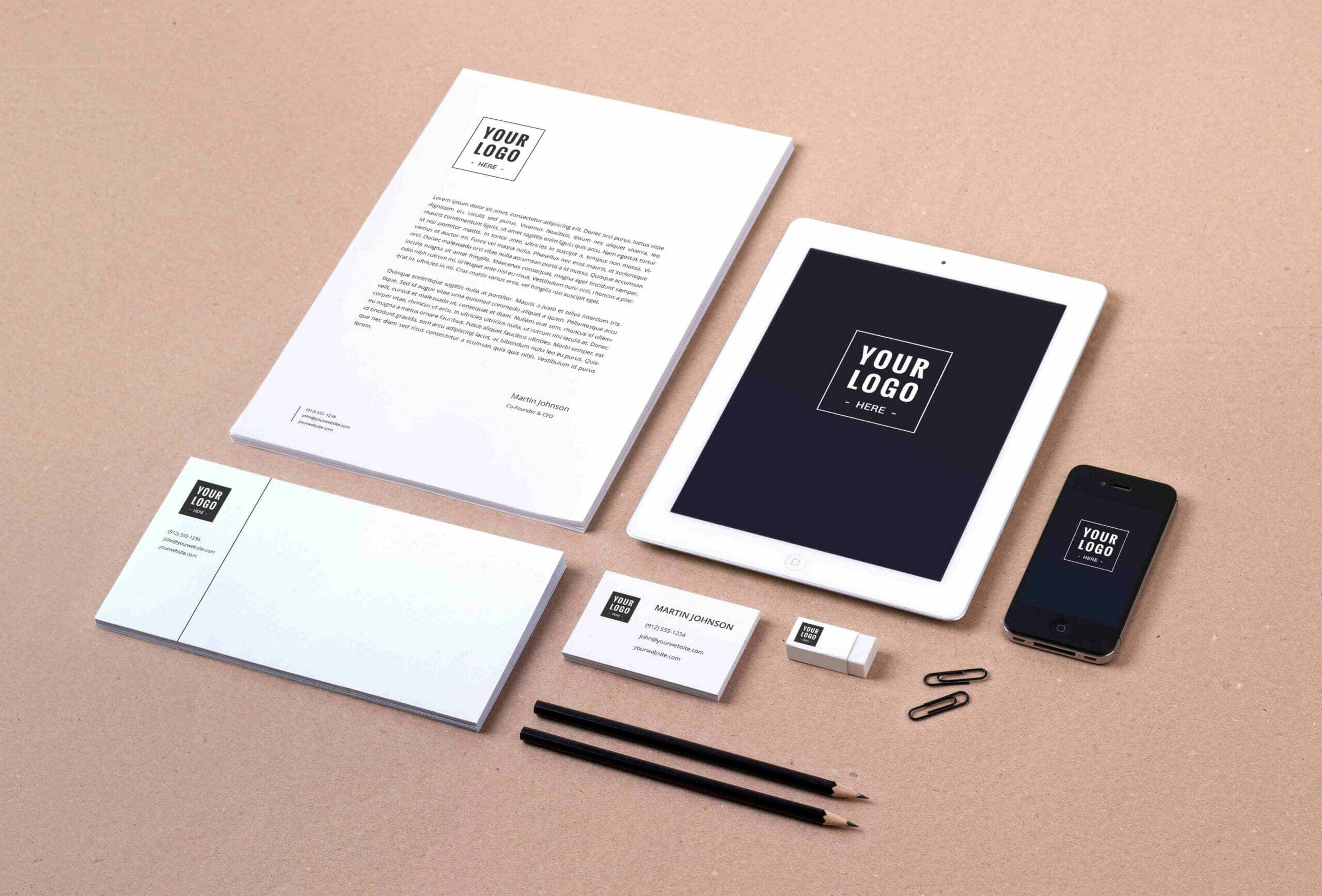 High-Resolution Branding Identity Mockup Vol.8
