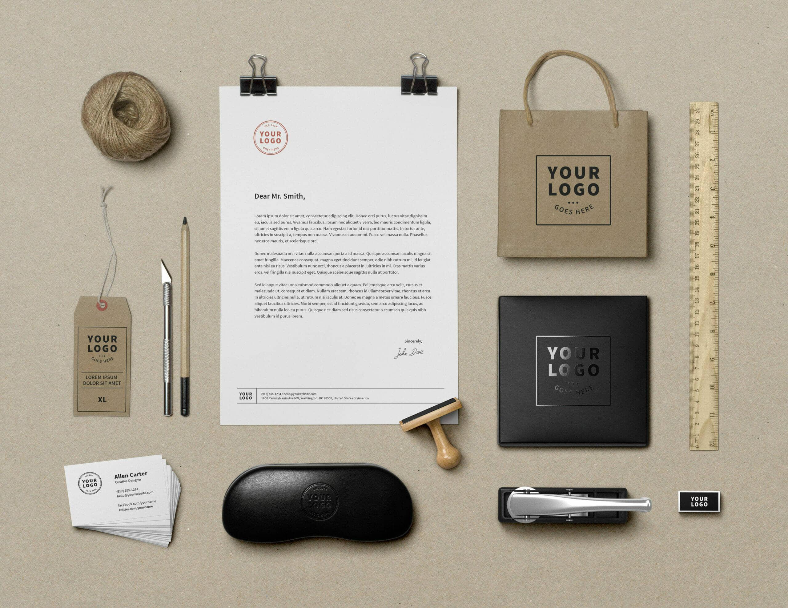 Corporate Branding Identity Mockup Vol.9