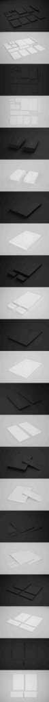 Clean Simple Ebony & Ivory Branding Mockup