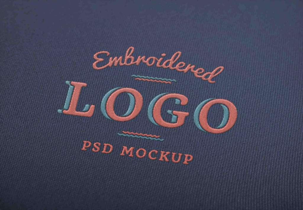 Stylish Embroidered Logo Mockup