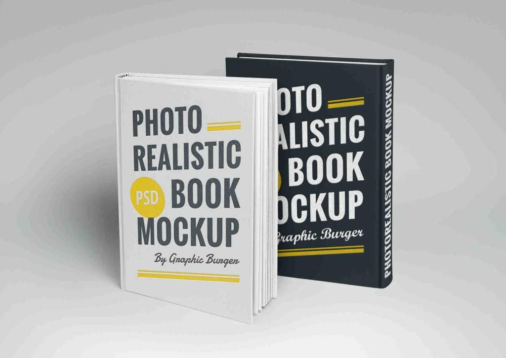 Photorealistic Hardcover Book Mockup