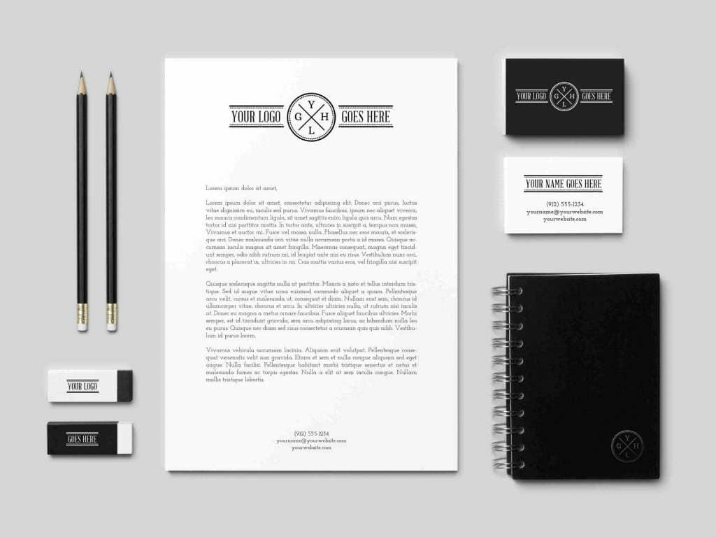 B&W Branding Identity Mockup
