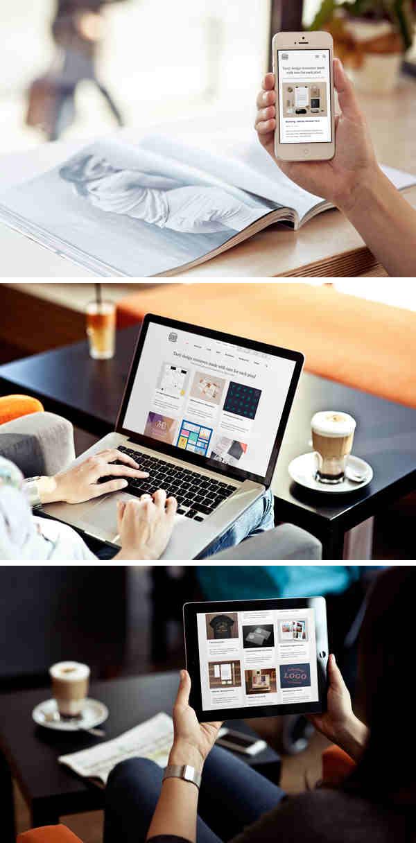 Photo Mockups for iPhone, iPad & MacBook