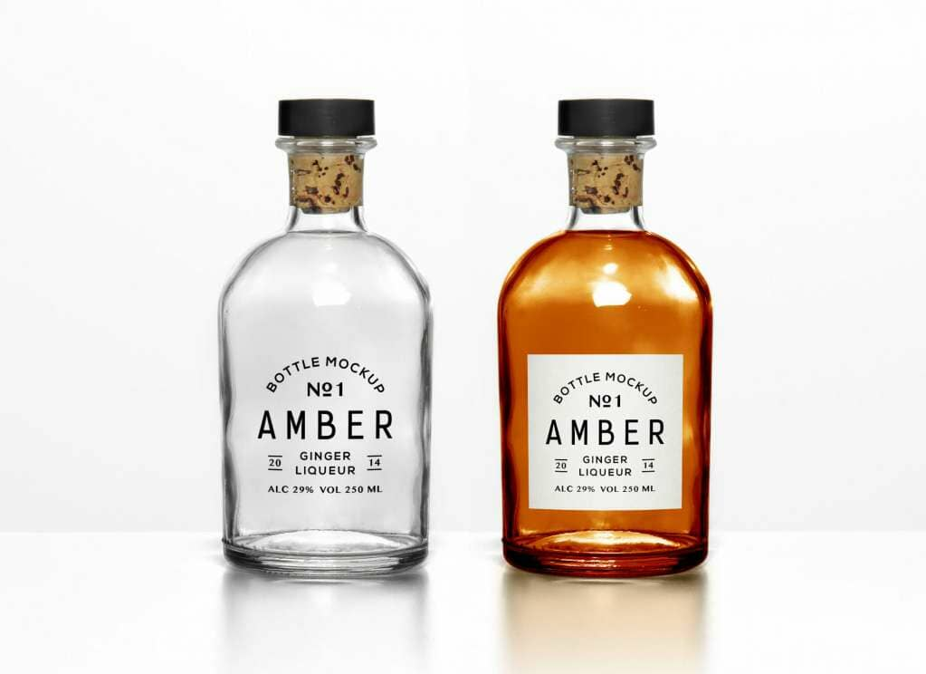 Versatile Filled and Empty Bottles Mockup