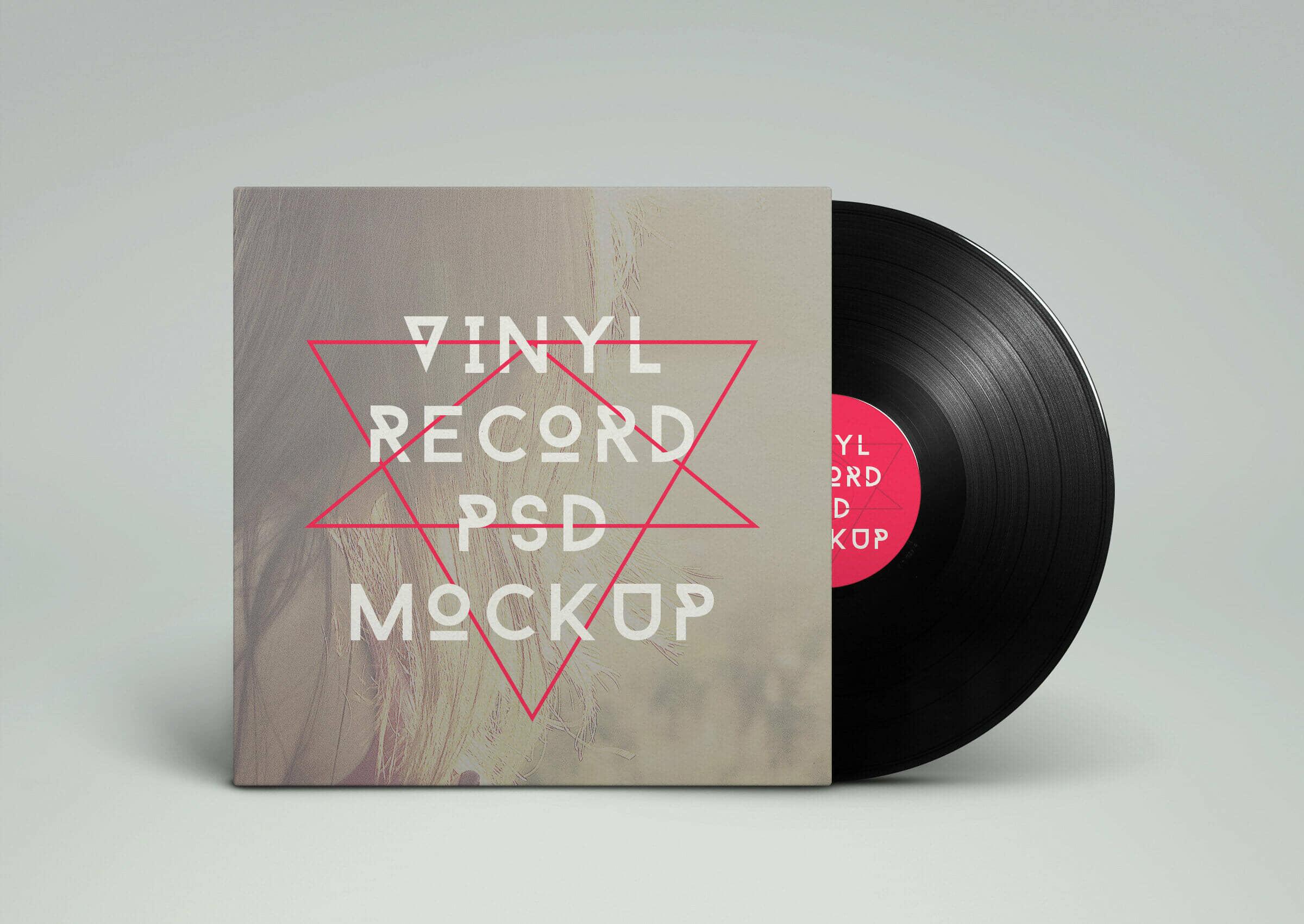 Artistic Vinyl Record Mockup