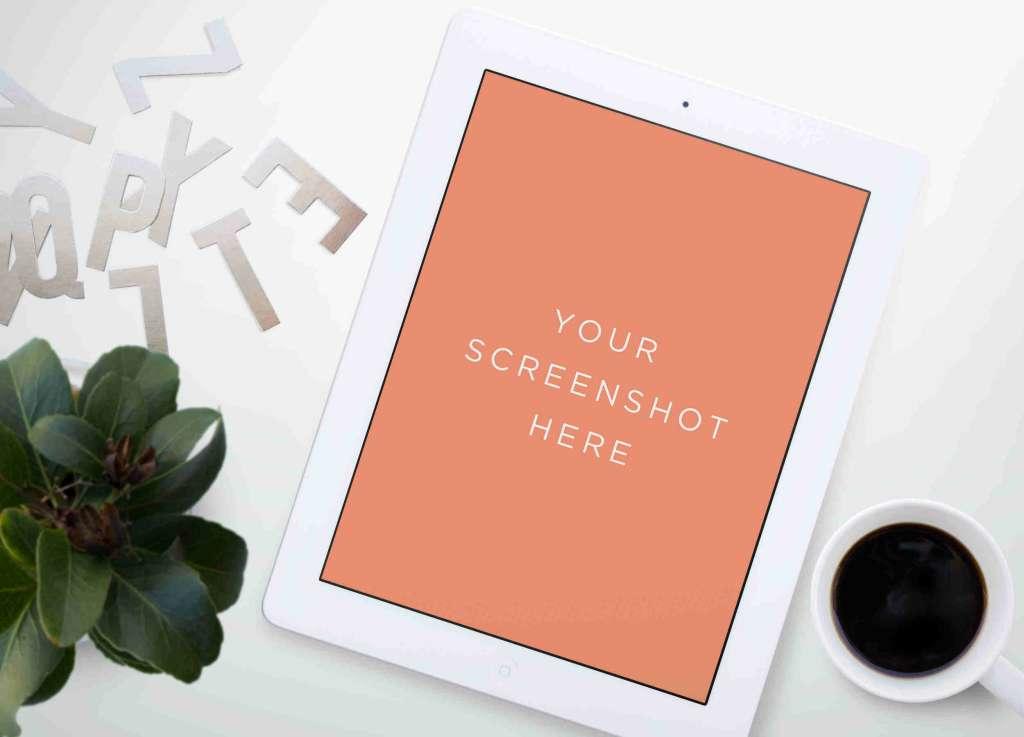Clean White iPad Mockup