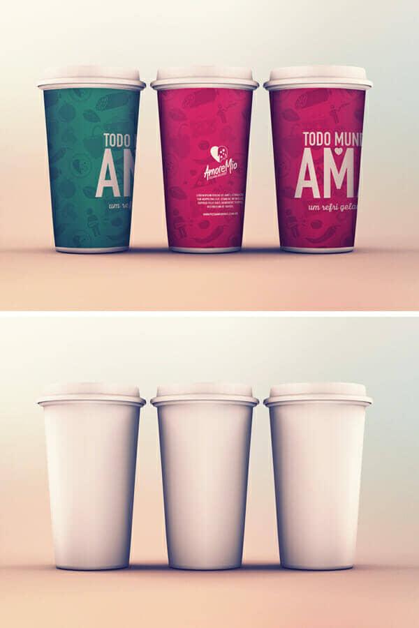 Creative Paper Cup Design Mockup