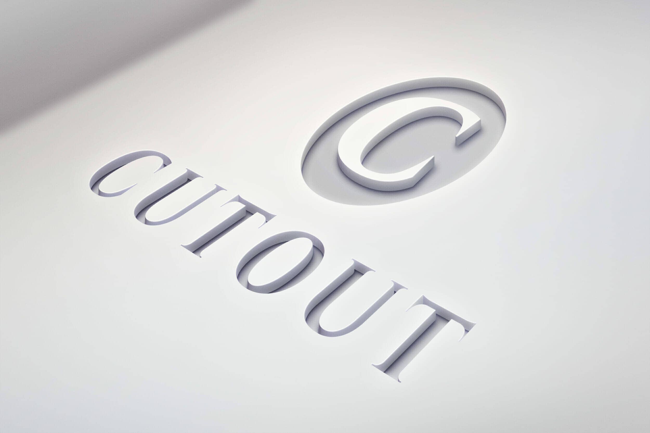 Clean White Logo Cutout Mockup