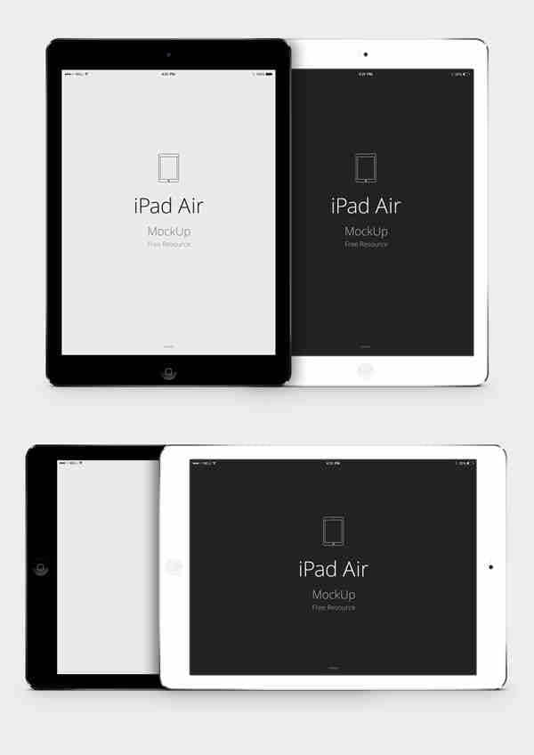 iPad Air Template Vector MockUp