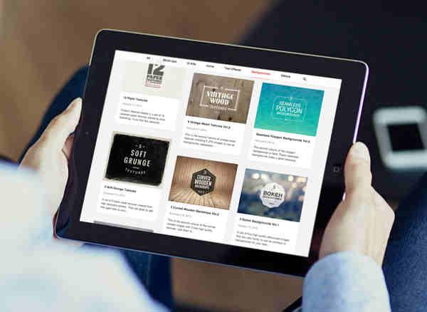 Black iPad Photo Mockup