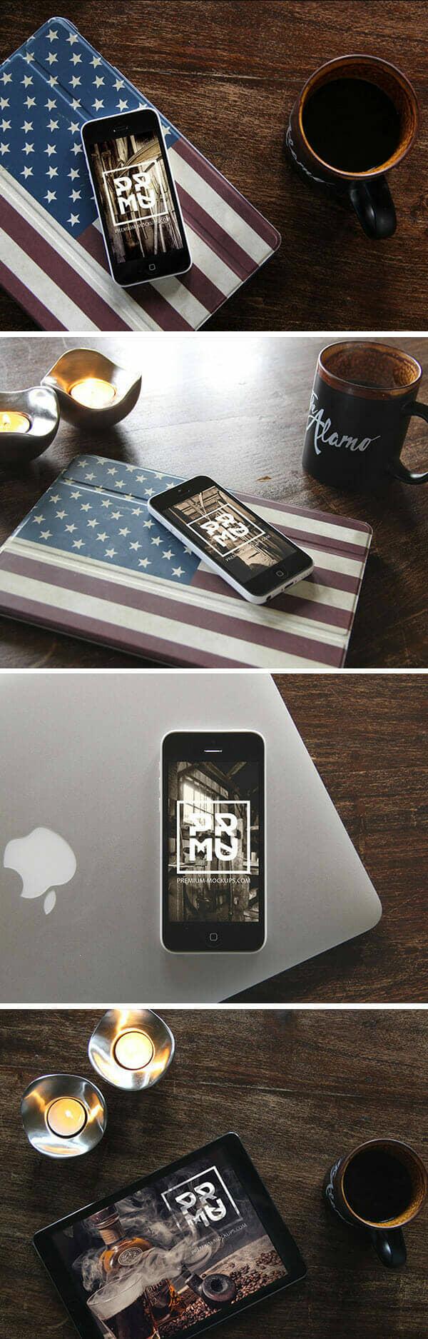 Stylish iPhone & iPad Photo Mockups