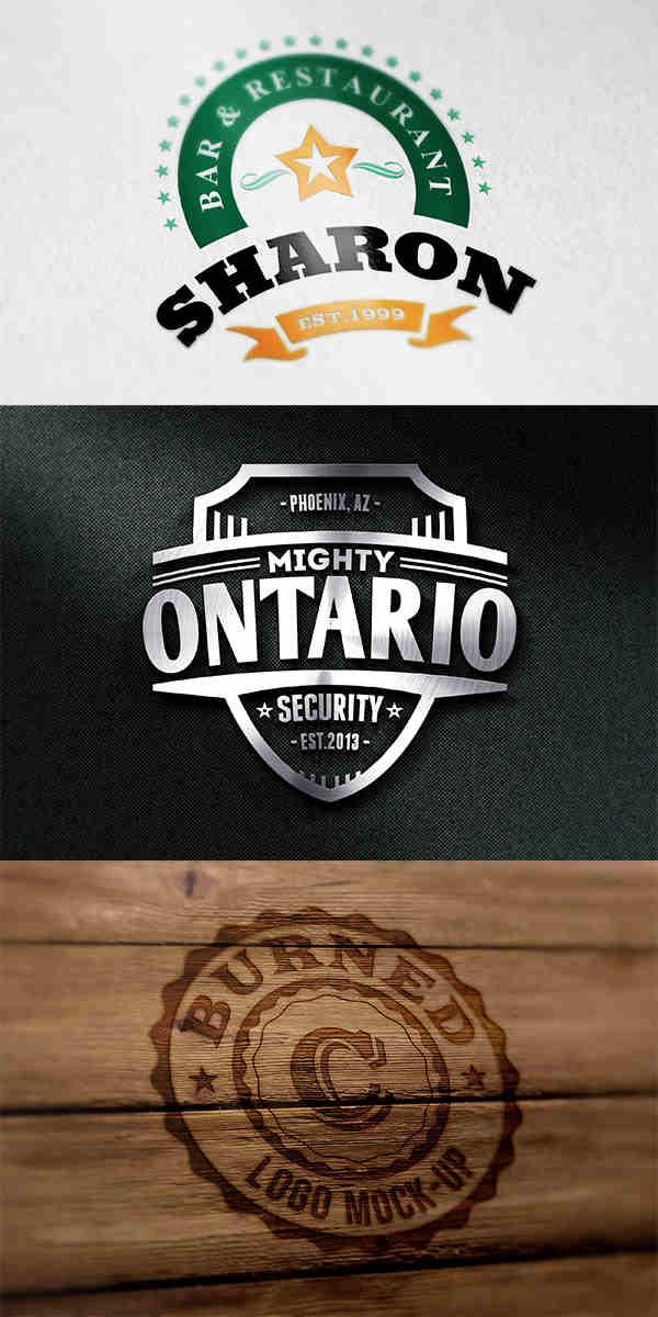 3 Photorealistic Logo Mockups
