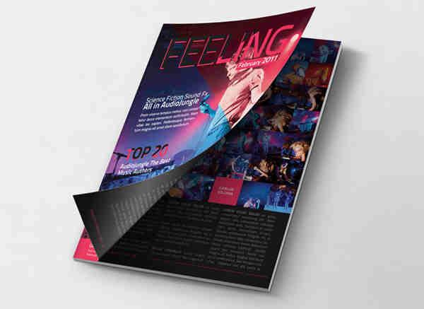 Colorful Magazine Print Design Mockup