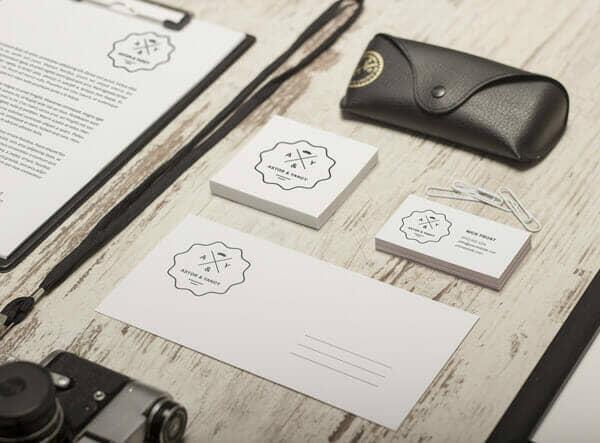 White Branding Identity Mockup