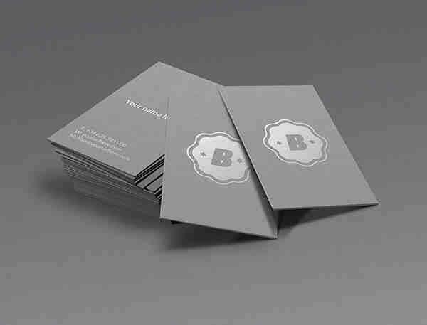 Elegant Silver Business Card Mockup