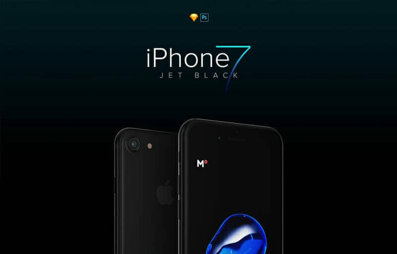 IPHONEiPhone 7 Jet Black Mockup